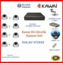 Kawai 8Li Güvelik Kamera Seti Domm Gece Görüşlü