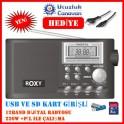 Roxy RXY-920 Usb Ve Kart Girişli Band Dijital El Radyosu