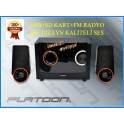 Platoon PL-4226 2+1 Usb+SD+Fm Destekli Multimedia Speaker