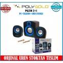 Polygold Pg-230 2+1 11 Watt Hoparlör Ses Sistemi