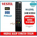 Vestel Hi-Level Regal Led Uydu Alıcılı TV kumandasi 3D Smart Netflix Tuşlu