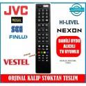 Jvc Vestel Hi-Level Led Uydu Alıcılı TV kumandasi 3D Smart Youtube Netflix Tuşlu