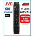 jvc Vestel Hi-Level Led Uydu Alıcılı TV kumandasi 3D Smart Netflix Tuşlu