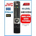 Jvc Vestel Hi-Level Regal Led Uydu Alıcılı TV kumandasi 3D Smart Youtube Netflix Tuşlu