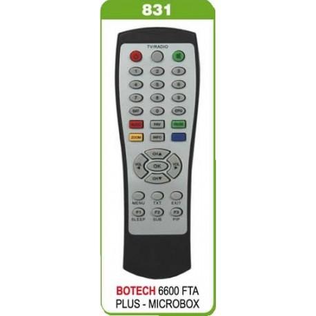 BOTECH 6600 FTA PLUS MICROBOX FTA UYDU KUMANDA
