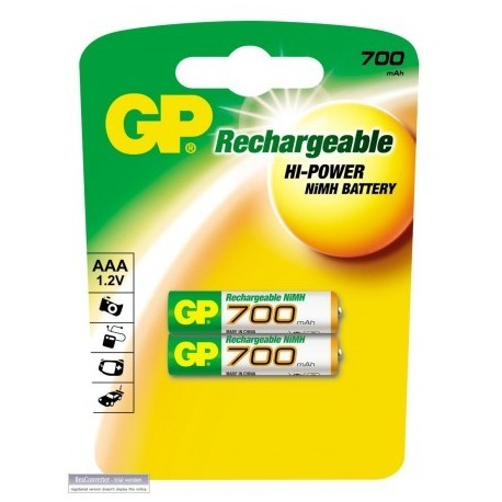 GP 700 MA İNCE ŞARJLI KALEM PİL 2 Lİ PAKET