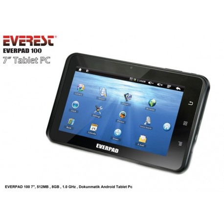 Everest EVERPAD 100 7,512MB,8GB,1.0GHz,Dokunmatik Android Tablet Pc