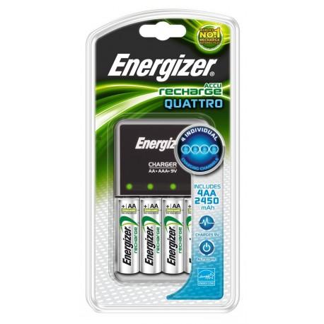 ENERGIZER QUATTRO MAXIMUM AA, AAA, 9V PİL ŞARJ CİHAZI +4x 2650MAH AA PİL DAHİL