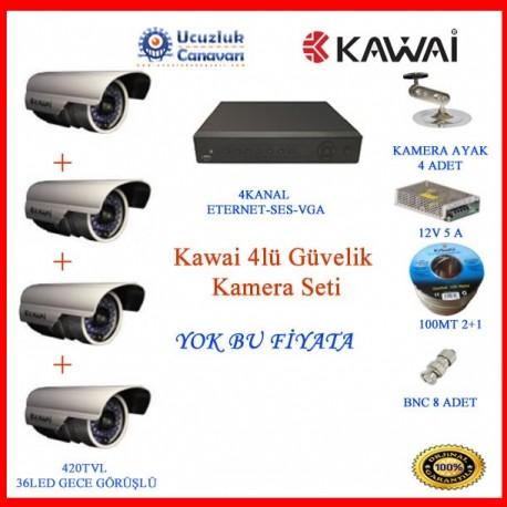 Kawai 4lü Güvelik Kamera Seti