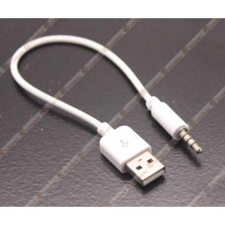 2. ipod shuffle için 3.5mm USB kablosu şarj adaptörü