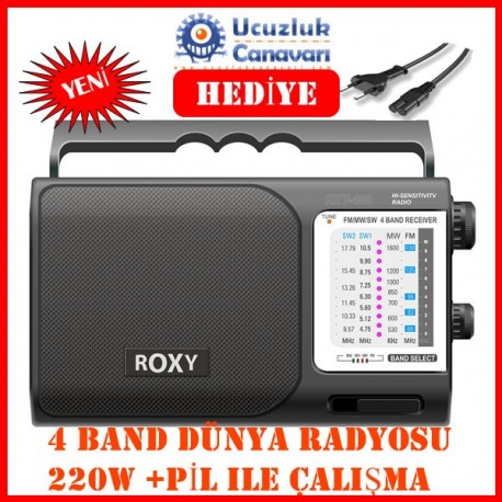 Roxy RXY-400 4 Band El Radyosu