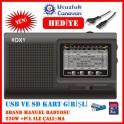 Roxy RXY-910 Usb Ve Kart Girişli El Radyosu