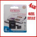 Syrox 4Gb Micro Sd Kart