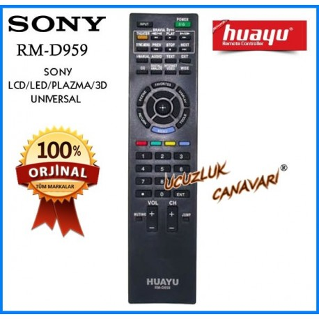 Sony Lcd TV kumandasi Tüm Modeller Rm D959