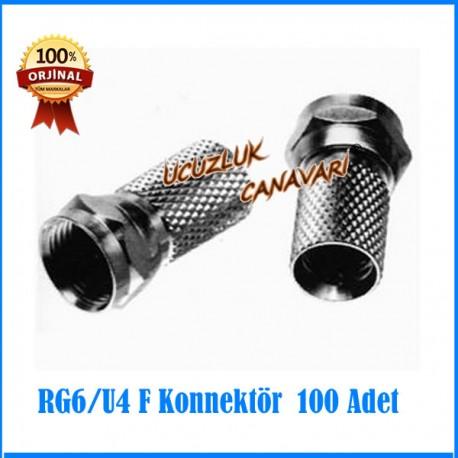 RG 6 F Konnektör 100 lü Paket