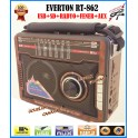 Everton RT-862 Fener Usb Ve Kart Girişli Manuel El Radyosu