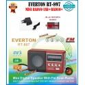 Everton RT-897 Usb Ve Micro Kart Girişli Manuel El Radyosu