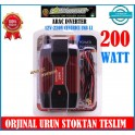 Powermaster Araç Invertör 12V 220Volt Çevirici 200 WAT Modifeld