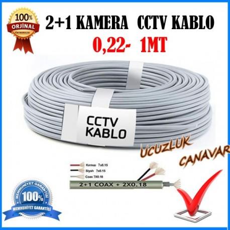 Güvenlik Kamera Kablosu 2+1 cctv 1 Metre