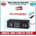 Platoon PL-4007 Müzik Kutusu Ahşab Kasa Bluetoth USB FM Radyo Şarj lı