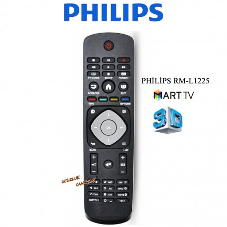 Phılıps Smart Tuşlu Lcd Led Tv Kumandasi RM-D1225