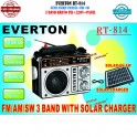Everton RT-814 Güneş Panelli Fenerli Şarjlı USB Portatif Radyo