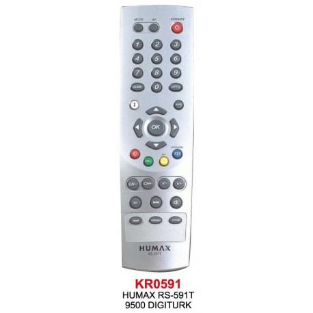 DIGITURK 9500 HUMAX RS 591T UYDU KUMANDA KR0591
