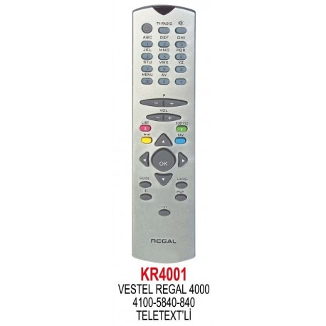 DIGITURK ZAP VESTEL UYDU KUMANDA KR4001
