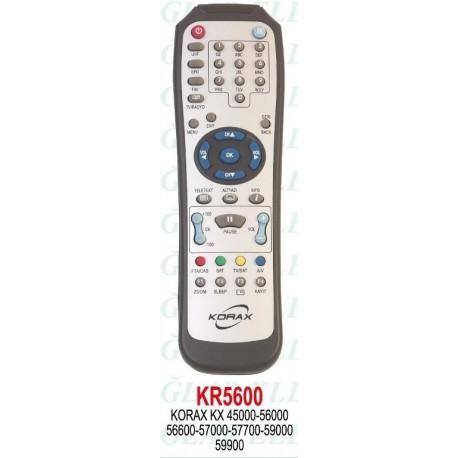 KORAX KX 45000-56000-57000-59000 UYDU KUMANDA KR5600