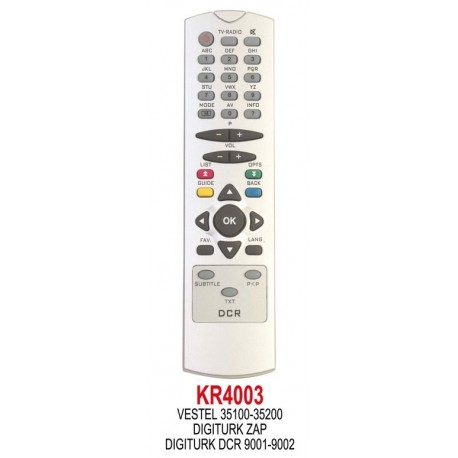 REGAL 35100-35200 (VESTEL ZAP-DIGITURK) UYDU KUMANDA