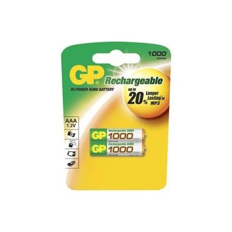 Gp 100AAAHC-U2 1000 mAh 2 x AAA NiMh Şarjlı İnce