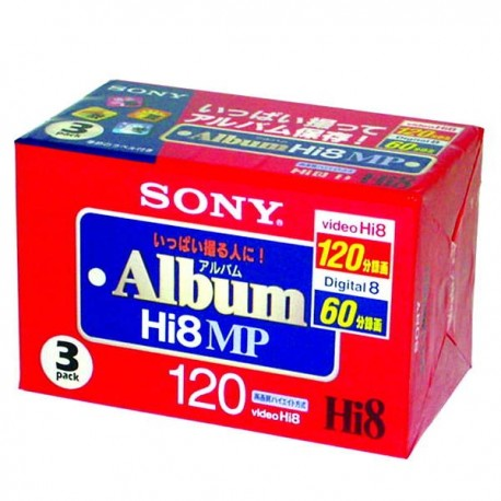 Sony HI8 120'lik 3'lü Paket Kamera Kaseti