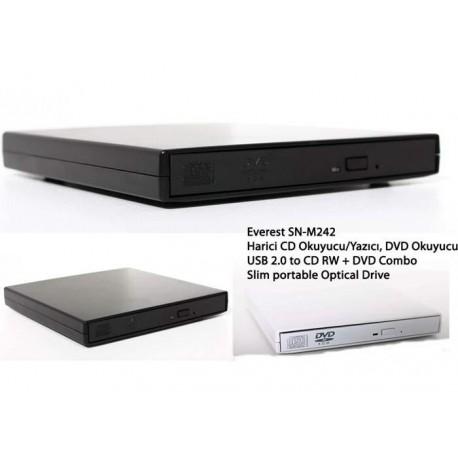 Everest SN-M242 USB 2.0 to CD RW + DVD Combo